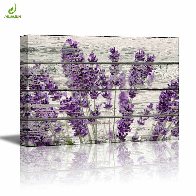 JHLJIAJUN Purple Lavender Modular Painting Modern Nordic Wall Art Print And Poster Dining Living Room Home Decor Picture