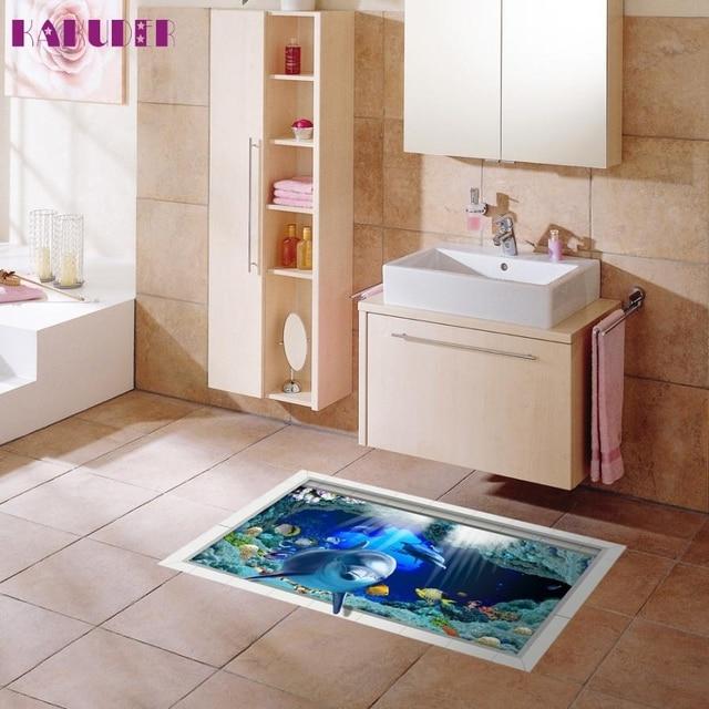 3D Bad Anti rutsch Waschbar Dolphin Pattern Boden Aufkleber ...