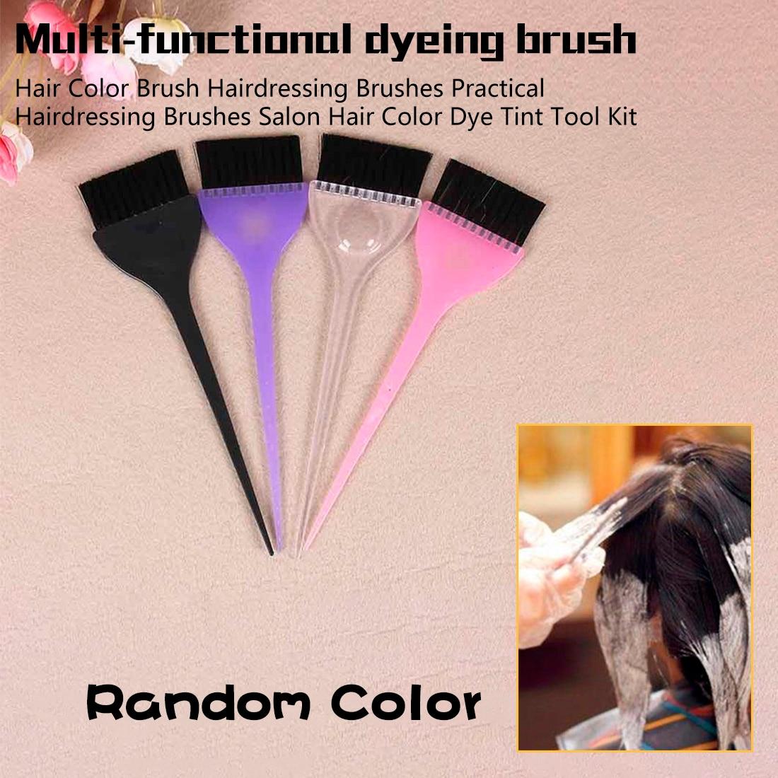 Black Hairdressing Brushes Salon Hair Color Dye Tint Tool Kit New Hair Brush Hair Accessories Drop Shipping