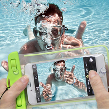 Waterproof Phone Case for Iphone 7 8 X 6 Plus Bag Samsung Galaxy S9 S8 S7 Edge Huawei P8 P9 Lite with Luminous