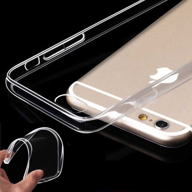 Case For iPhone X 8 7 6 6s Plus Clear Soft TPU Case Silicone Protective Transparent Cover For iPhone 5 S SE XR XS max Back Shell