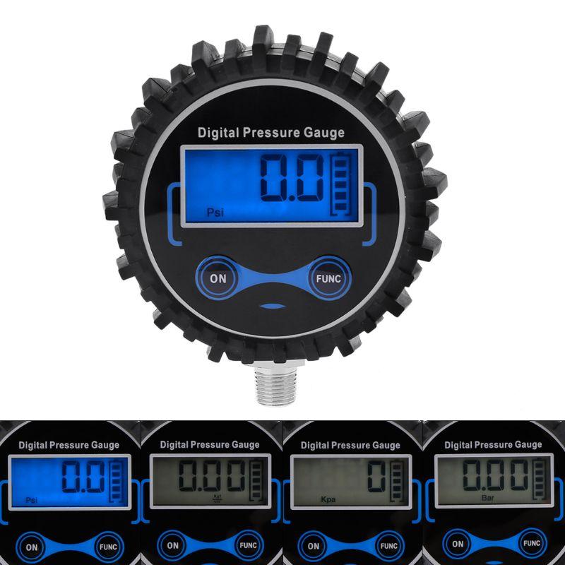 0-200 Psi Digitale Reifen Manometer Auto Luft Psi Meter Reifen Druck Tester 1/8 Npt Starker Widerstand Gegen Hitze Und Starkes Tragen