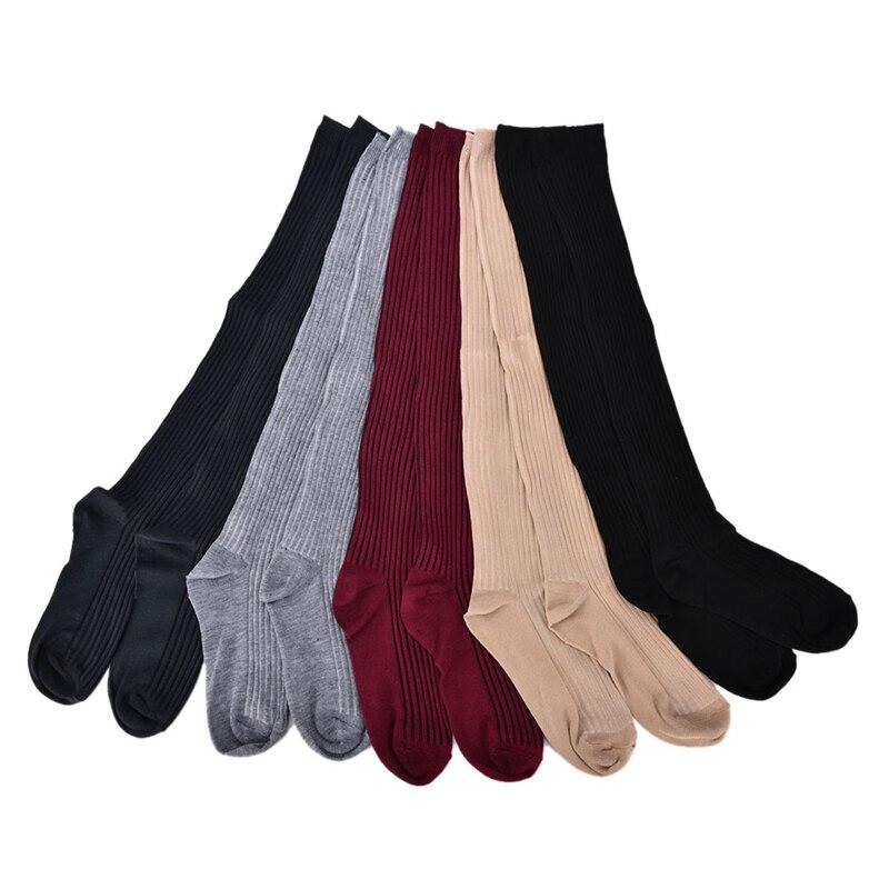 1 Paar Duurzaam Vrouwen Meisje Winter Over Knie Been Warmer Zachte Gebreide Haak Legging Kous Kan Herhaaldelijk Worden Omgedraaid.