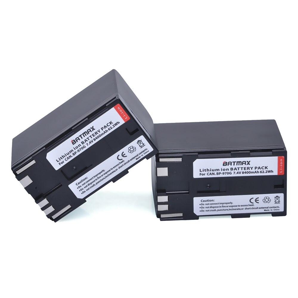 2Pcs 8400mAh BP-970G BP970G BP 970G, BP-975 Batteries for Canon EOS C100, EOS C100 Mark II, EOS C300, EOS C300 PL, GL2, XF100 canon bp 970g