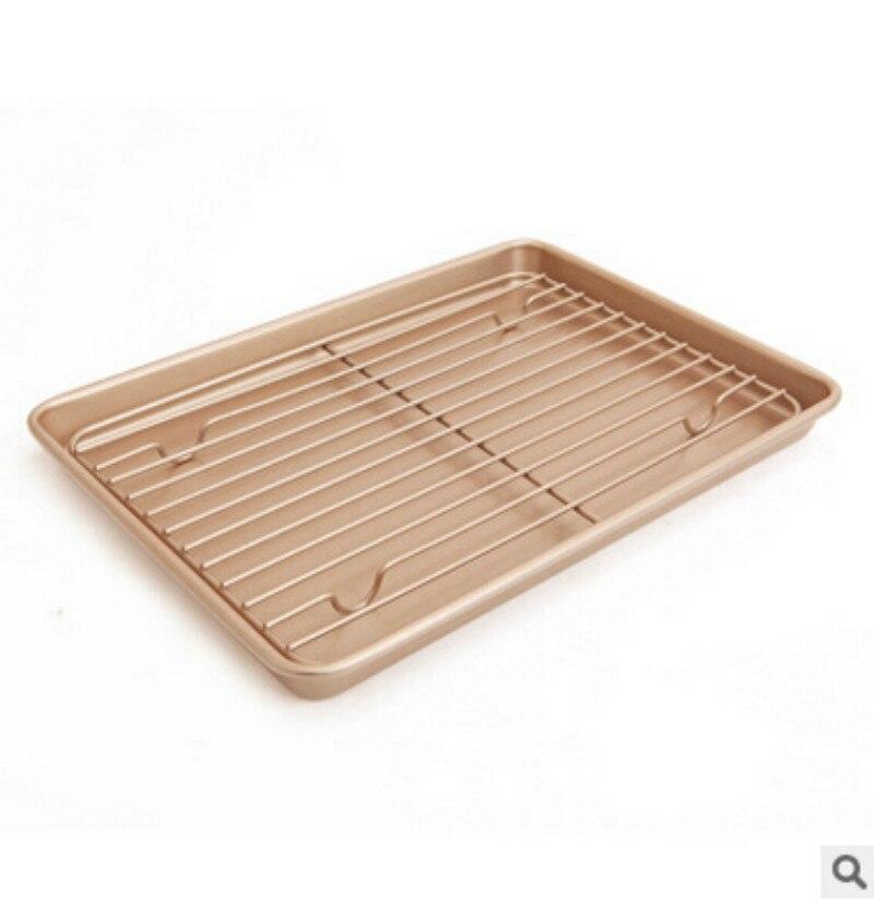 Plat à tarte et casseroles faciles à nettoyer 13 'feuille de biscuits antiadhésifs