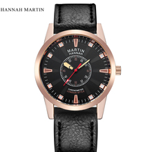 Brand Hannah Martin Mens Watches Luxury Sports Watch Men Military Leather Quartz Watch Waterproof Male Clock Relogio Masculino цена в Москве и Питере