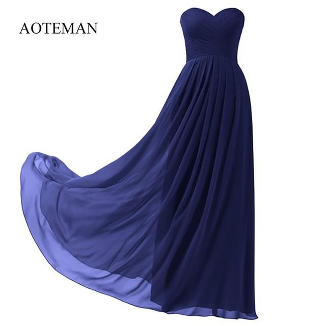 AOTEMAN Chiffon Summer Dress Women 2019 Sexy Strapless Long Party Dress Plus Size Wedding Bridesmaids Maxi Dresses Ukraine 10XL