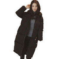 Cotton Padded Clothes Girls Long Pattern Handle Autumn And Winter Student Korean Bread Serve Keep Warm