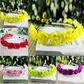 Niños niñas bebés florales flor Headwear de las vendas corona guirnalda de la decoración del pelo vinchas envío gratis PY