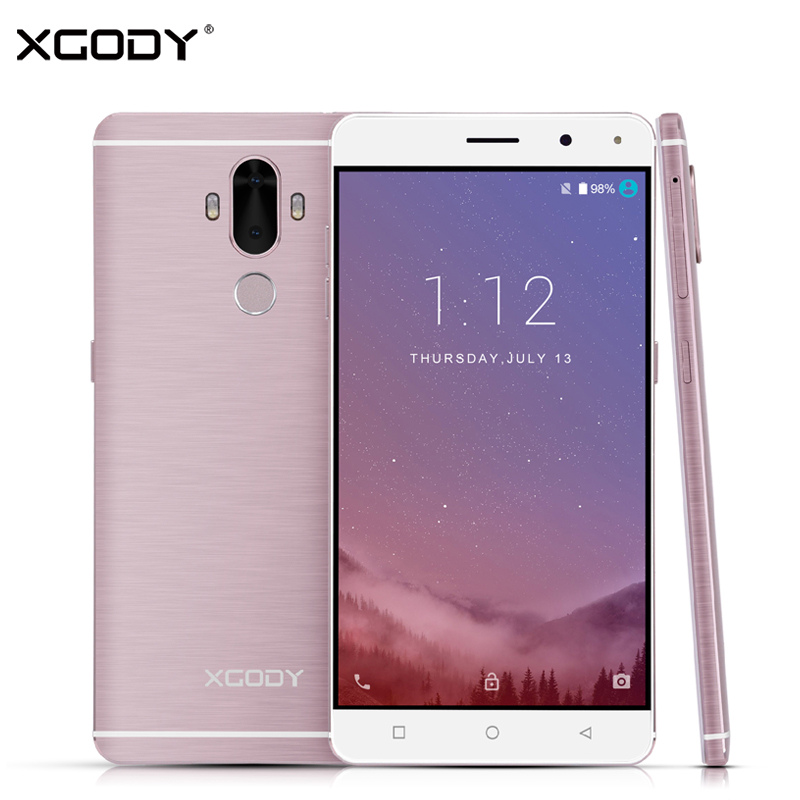 XGODY Y19 4G LTE Smartphone Android 7.0 Celular Quad Core 2GB RAM 16GB ROM 6.0 Inch Fingerprint Touch Dual Sim Mobile Phone GPS