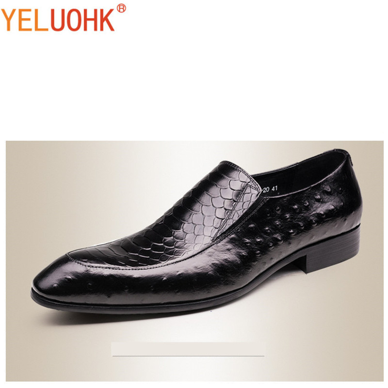 Genuine Leather Men Shoes Slip On Men Dress Shoes Leather Shoes Men