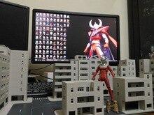 Comic club em estoque gundam modelo ultraman edifícios de rua cena conjunto hg1/144 mg1/100 diy montagem brinquedo figura