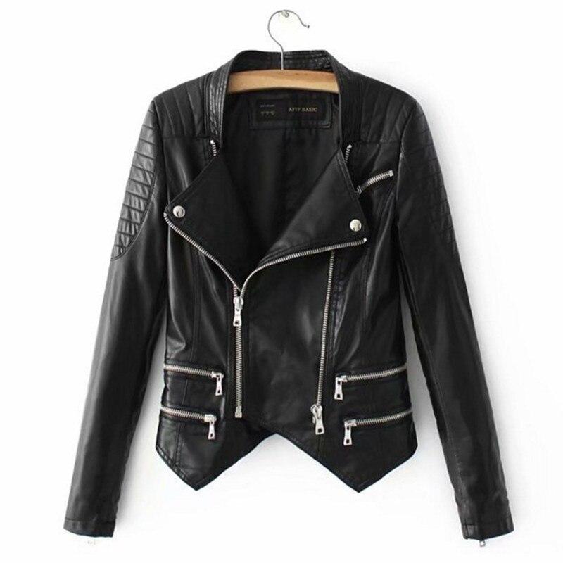 Mode Violet Pour Femmes Moto Manches Longues Couleur Biker Noir 2018 Vestes Noir pourpre Hiver Manteau Cuir Automne Pu Wear Faux Street SdaW5wxz