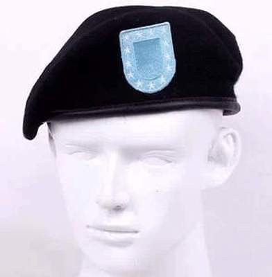 US Army Breathable Pure Wool Beret Cap Special Forces Soldiers Death Squads  Military Training Camp Hats Size L- US074