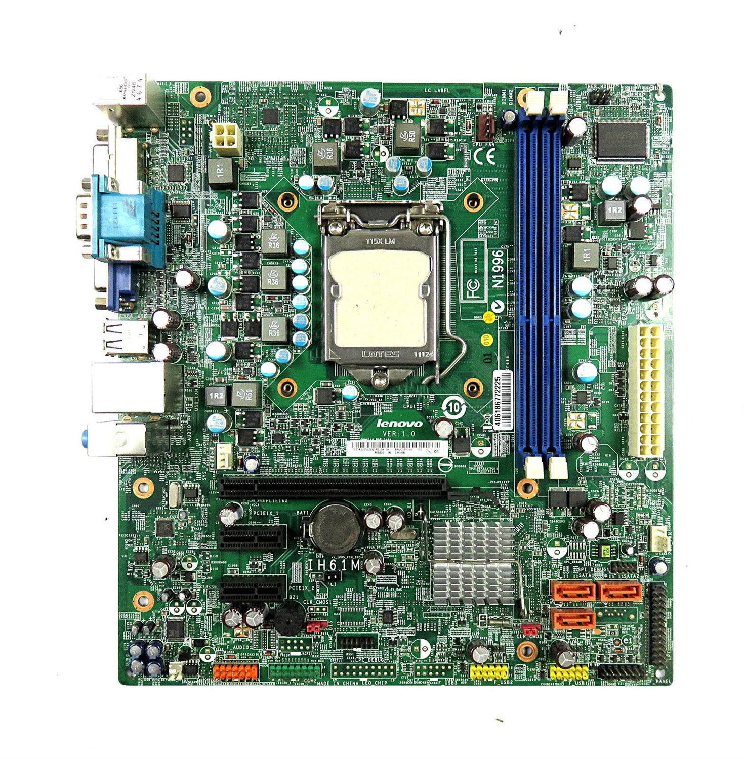 Original disassemble, for Lenovo H61 motherboard original disassemble IH61M V: 1.0 1155 pin CPU with baffle,100% tested good pt50638x original main juc7 820 00052414 pm50h2111 used disassemble