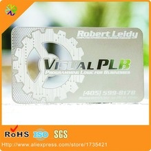 Super factory best price metal stainless steel card,cut out cards