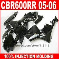 Custom paint ABS Injection motorcycle fairings kit for HONDA 2005 2006 F5 CBR 600RR CBR600RR 05 06 full glossy black fairing set