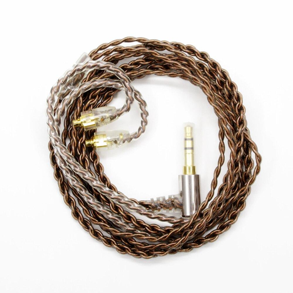 Heiße Verkäufe 1,2 mt einzigen kristall kupfer Kopfhörer Kabel Kopfhörer Draht HIFI Headset Linie für UE900 Shure pin serie (535/215 etc.)