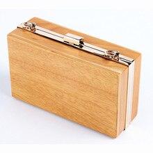 Neue 2016 Marke Mode frauen messenger bags Boutique totes elegante handtasche eleganten Holz abendtasche Solide Armband Casual Kupplung