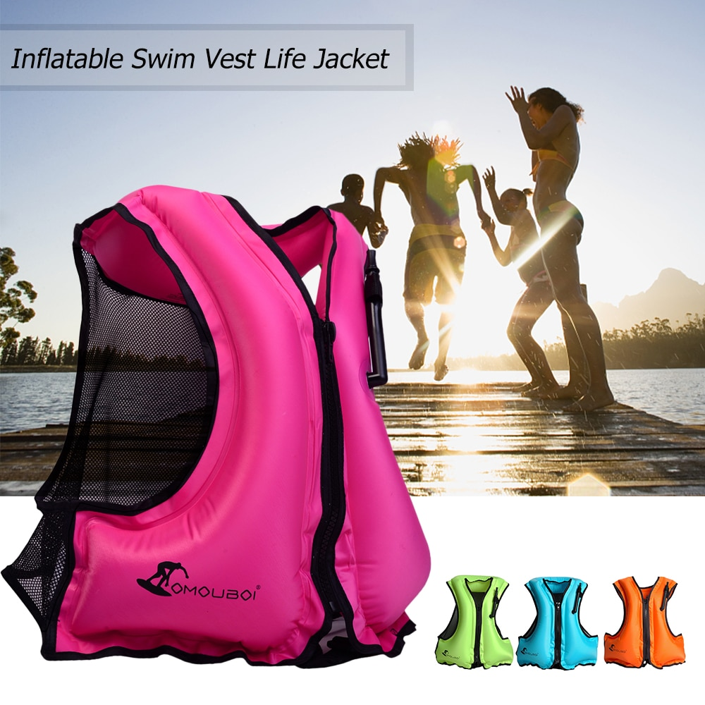 New Adult Life Vest Swim Vest Life Jacket for Snorkeling Floating Device Swimming Drifting Surfing Water Sports Life Saving