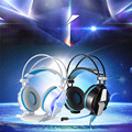 7.1 USB Super Bass Surround Gaming Headphones with Microphone Vibration Headset LED Light for Computer PC KOTION EACH G7000