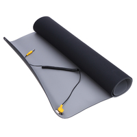 Anti static Mat+Ground Wire+ESD Wrist for Mobile Phone Computer Sensitive Electronics Repair Blanket Blue Black 700*500*2.0mm