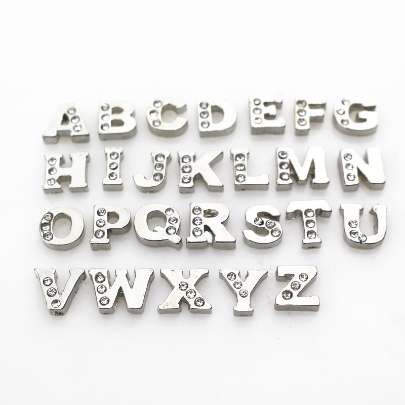 2016 New 260pcs/lot crystal alphabet  A-Z letters floating charms living glass floating memory lockets(each 10pcs)
