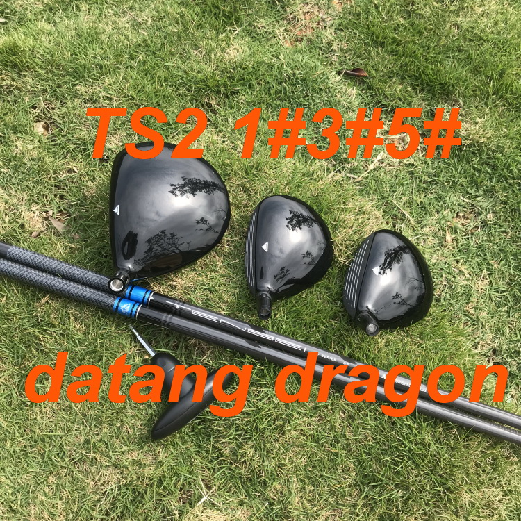 2019 New datang dragon golf woods TS2 driver 3#5# fairway woods with TENSEI 65 shaft headcover wrench 3pcs golf clubs