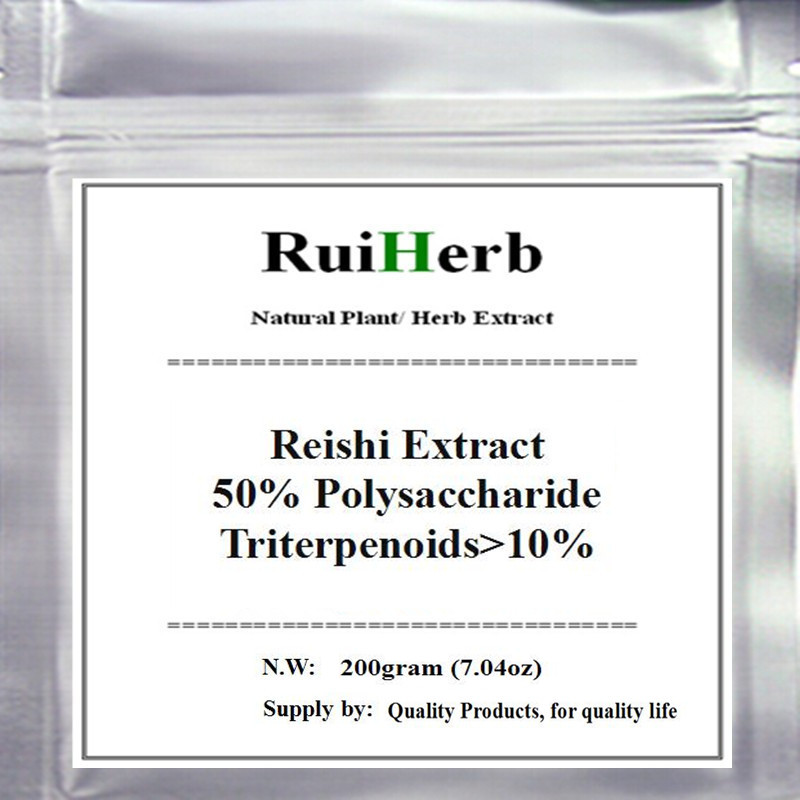200gram Reishi (Lingzhi) Extract 50% Polysaccharide Triterpenoids>10% Powder 50:1 Extract free shipping стоимость