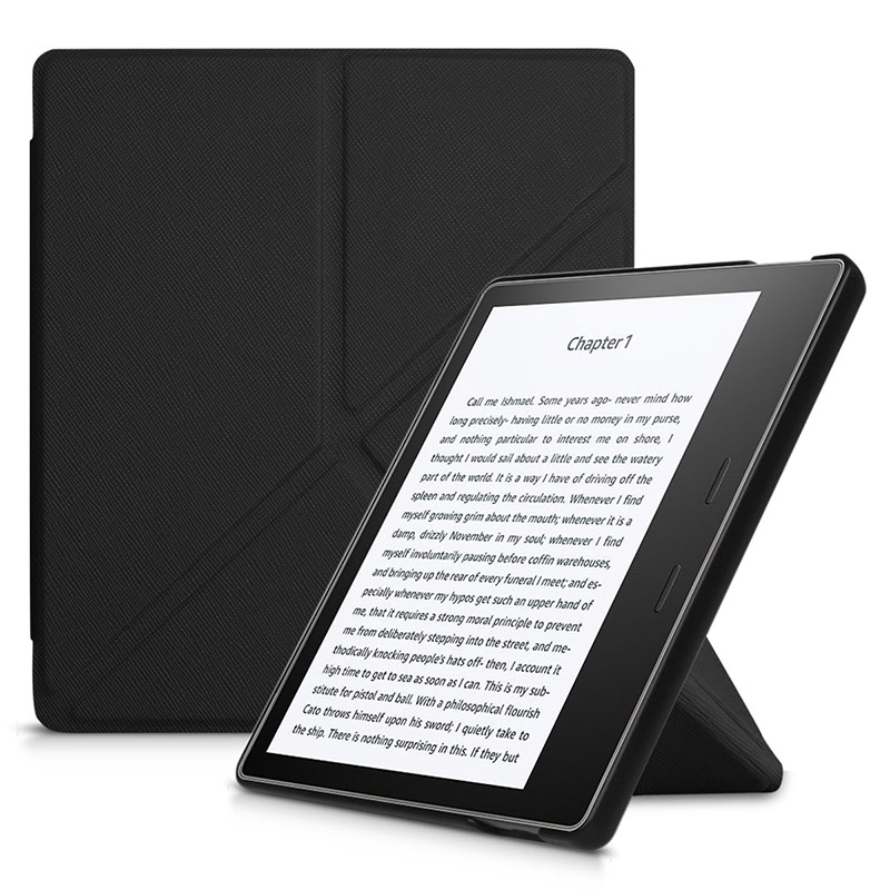 Origami stand cover case for 2017 Amazon kindle oasis 2 e-reader for New Kindle Oasis 7.0 e-reader+screen protector