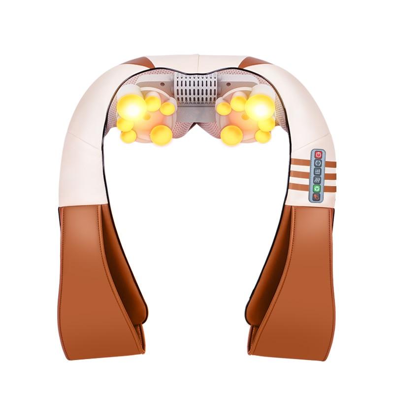 JinKaiRui Electrical Shiatsu Back Neck Shoulder Body Massager Infrared Heated Kneading Car/Home Massagem Masajeador heal-in Massage & Relaxation from Beauty & Health    2