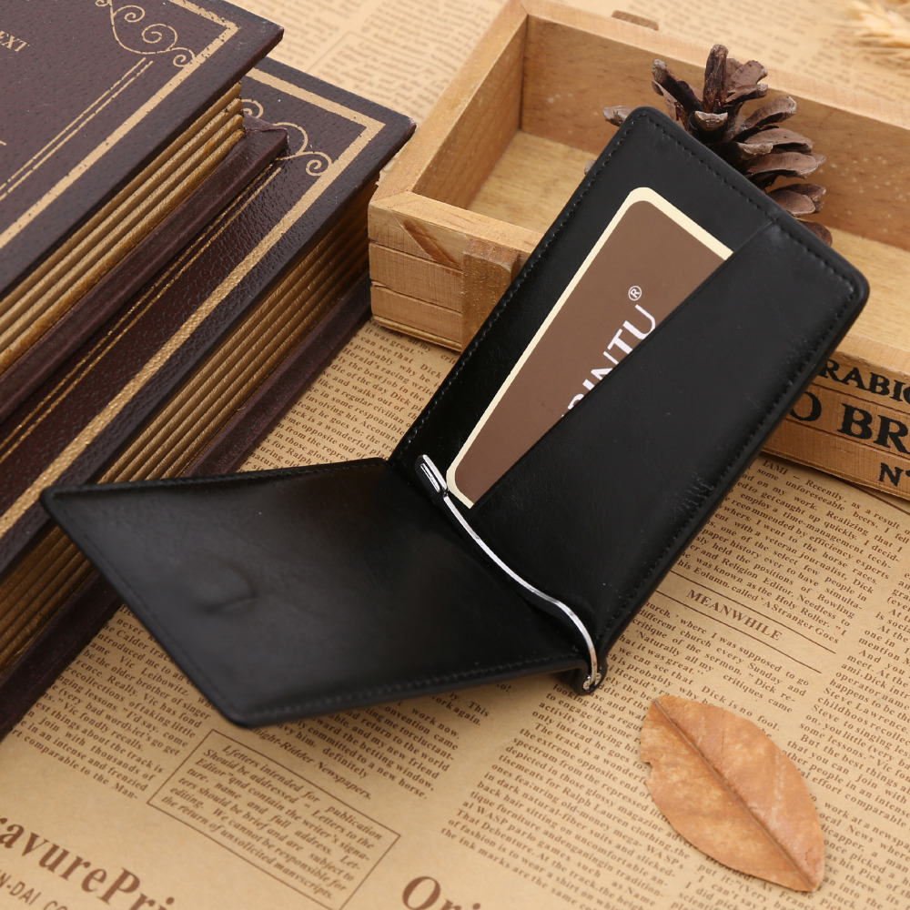 GUBINTU PU Leather Men Wallets Man Famous Brand Small Short portomonee with Hasp Coin Pocket Mini Male Purses Money Clip Walet