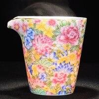 Jingdezhen Ceramics Fair Cup Enamel Gold Land Wanhua Cup Kung Fu Da Hong Pao Black Tea Ceremony Accessories Tea Sea Teaware