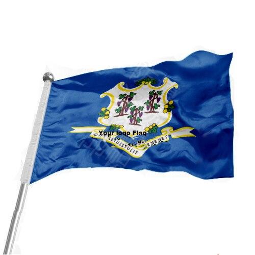In #1 288x192 #2 240x160 #3 192x128 #5 96x64 #6 60x40 #7 30x20 üBerlegene QualitäT Zustand Von Connecticut Flagge Fliegen Flagge #4 144x96 3x5ft