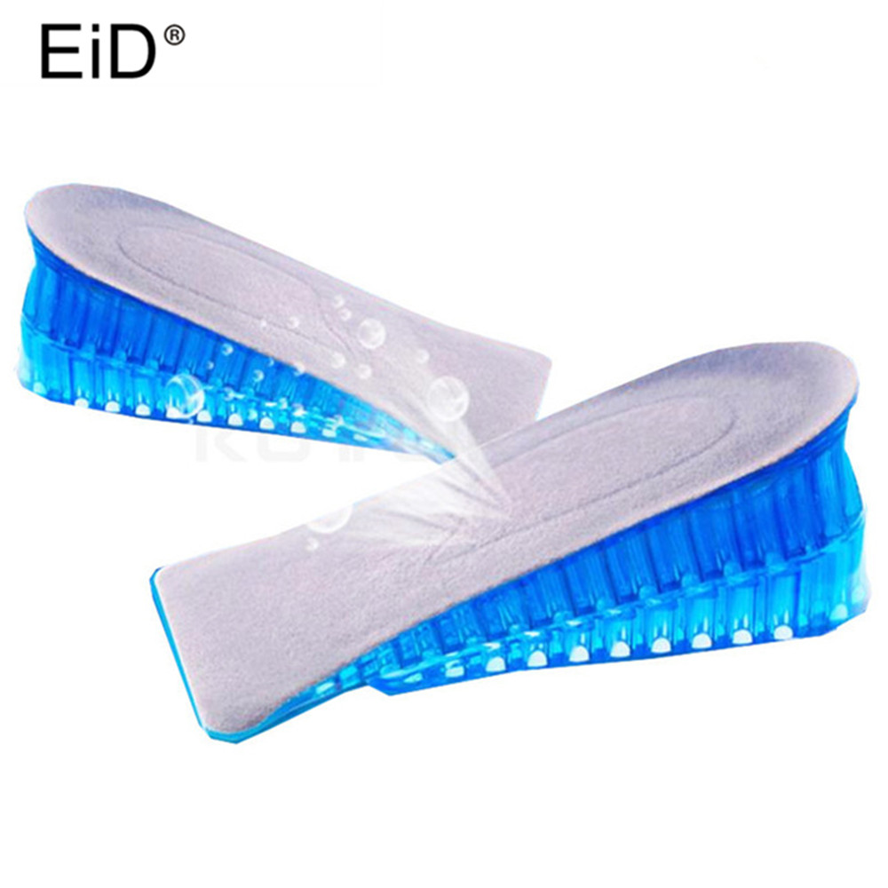 1 Pair High Quality Men Women Orthopedic Height Increase Insoles Massaging Invisible Half Silicone Foot Pad Shoe Lift Feet Care