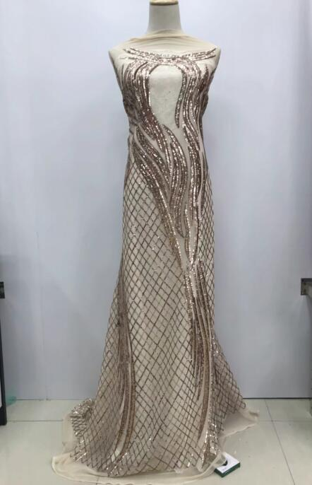 Nigerian french net Lace Cyndi 12 345 Embroidered Cord Lace Fabric with full beads for bridal