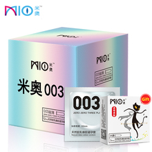 MIO 003 Ultra-thin Lubricants Condom 15/68Pcs Natural Latex Smooth Penis Sleeve for Male Sex Erotic Toys Contraception Condoms