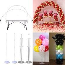 Suporte de balões para decoração, balões de plástico transparente para decoração de festas infantis, casamentos, decoração de páscoa