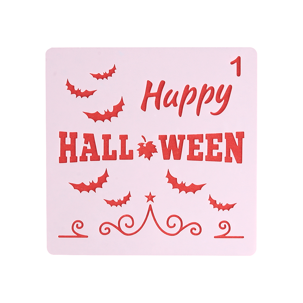 Stamp Embossing Happy Halloween Scrapbooking Layering Stencils PaintingTemplate