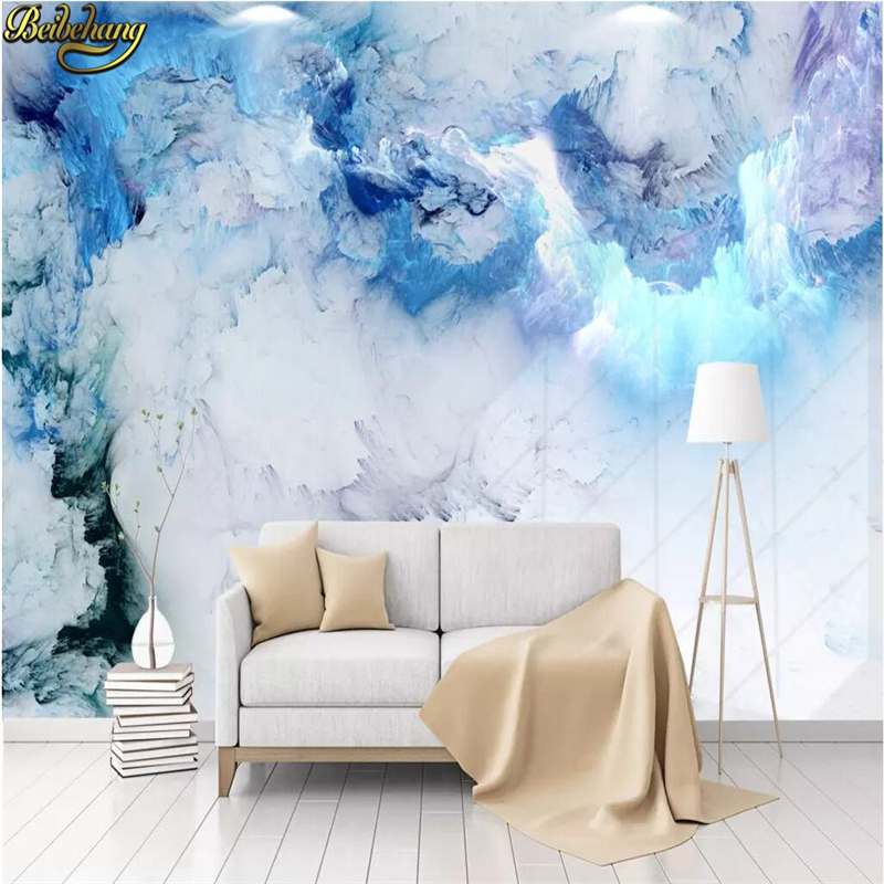 Beibehang Tv Background Nordic Abstract Colorful Clouds