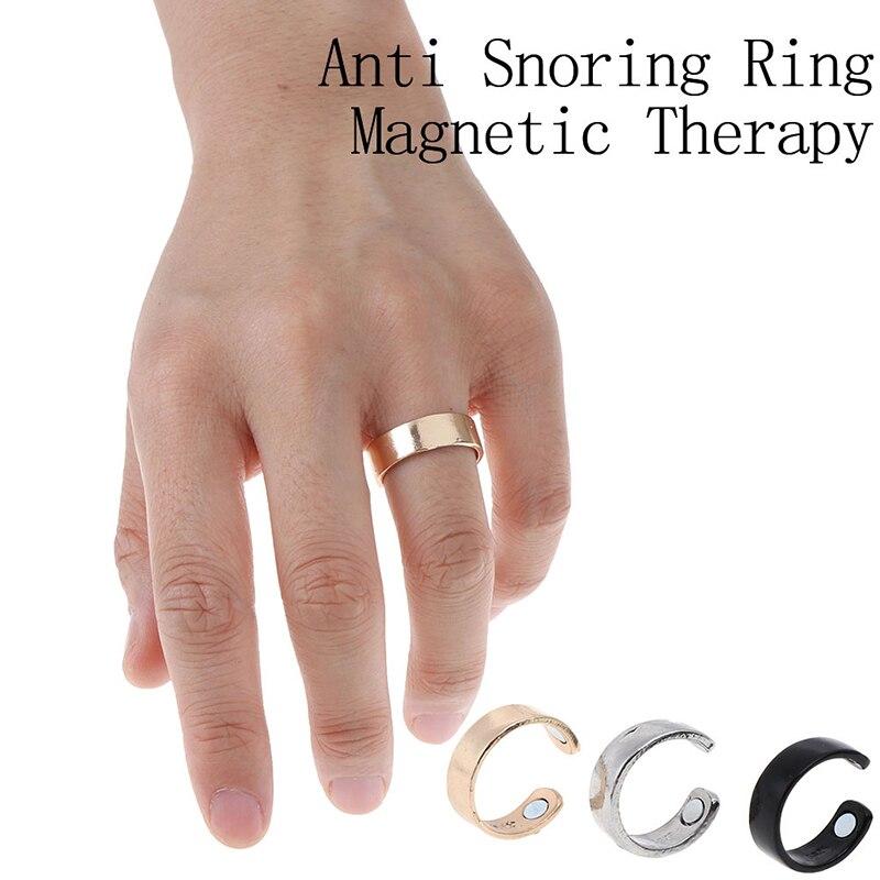1PC Anti Snore Ring Titanium Alloy Treatment Reflexology Anti Snoring Apnea Sleeping Device 3 Colors