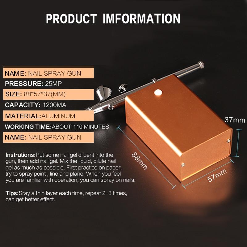 Dual Action Airbrush Multi Function Air Brush Kit Spray Gun For Nail ...