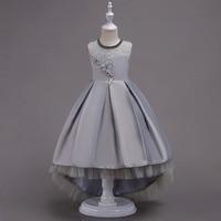 FloralTrumpet Princess Dresses Children Clothing Kids Dresses Girls Summer Party Wedding Dress Trailing S
