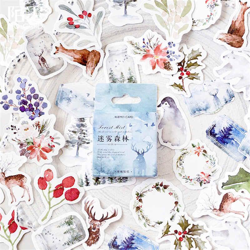45 sztuk/zestaw kawaii biurowe naklejki creativa piękny birdie wzór pamiętnik szkolne papiernicze naklejki świąteczne prezent