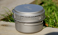 New 1 2 Persons Pan Sets Outdoor Portable Camping Tablewares Camp Cooking Cookware Titanium Tablewares Fire