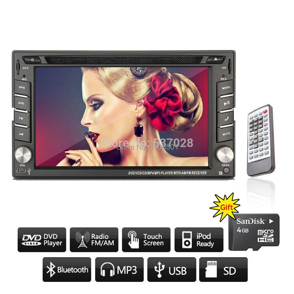 6.2 touch Screen 2din car dvd gps universal player,Bluetooth, Radio ,Stereo, Audio ,Media Function фуфайка unq фуфайка