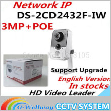 in stock free shipping with DHL DS 2CD2432F IW 3MP IR Cube Network Camera w Wi