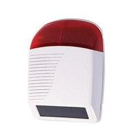 Ngoài trời Wireless Strobe Siren Năng Lượng Mặt Trời với Red Flash Light 110db cho 433 MHz Pstn Wifi Gsm Hệ Thống Báo Động Nhà an ninh