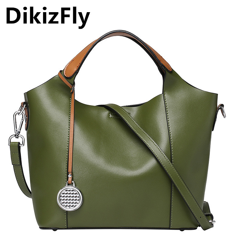 HOT DikizFly women bag famous brands genuine leather messenger bags Lady Shoulder Bag Women's Tote Designer soft Handbag bolsas 1151h