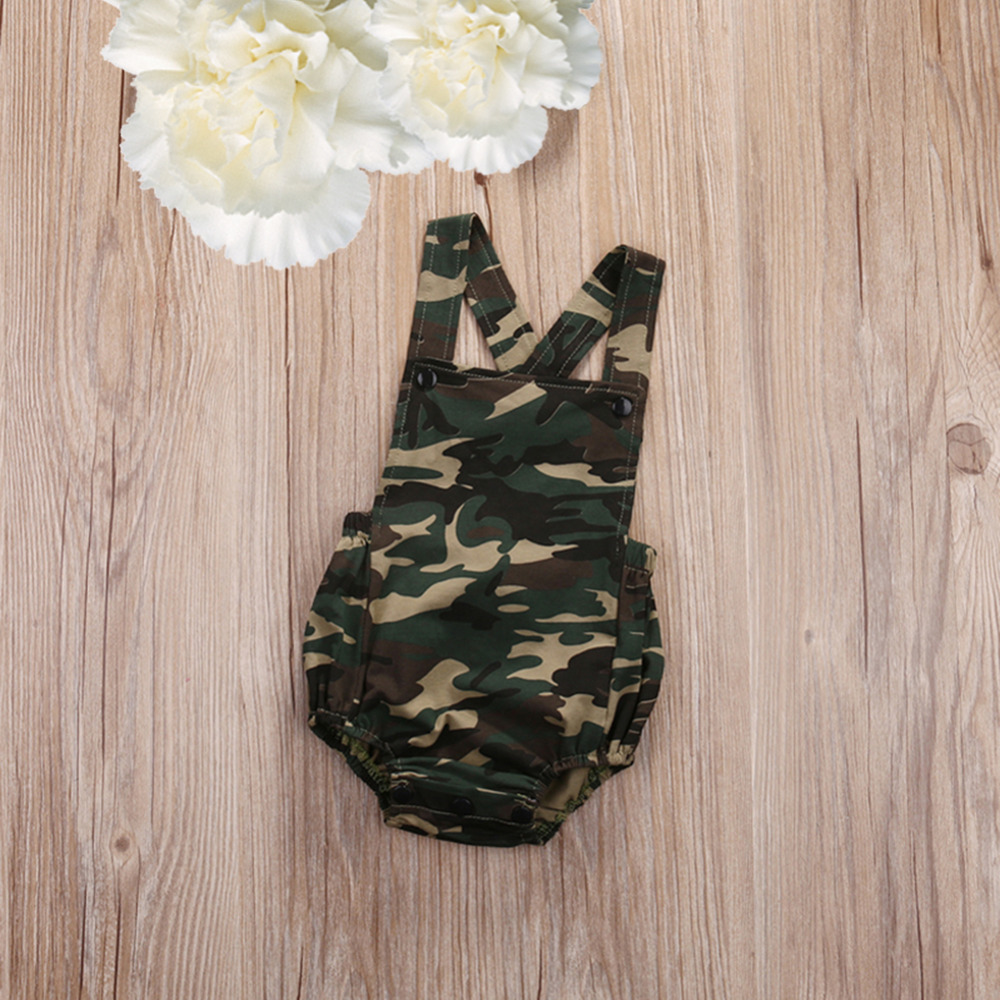 Summer Newborn Toddler Infant One-Pieces Baby Girls Camouflage Romper Jumpsuit Clothes Outfits Drop Shipping fashion 2pcs set newborn baby girls jumpsuit toddler girls flower pattern outfit clothes romper bodysuit pants